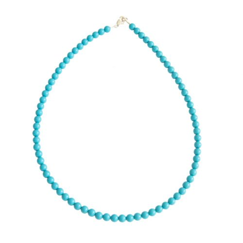 collier howlite bleue pierres boules 6mm