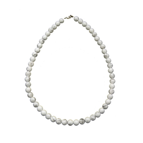 collier howlite pierres boules 8mm
