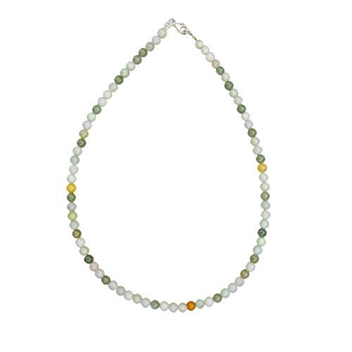 collier jade vert pierres boules 6mm