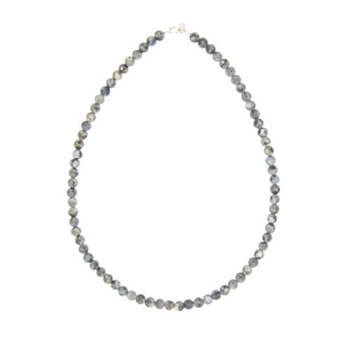 collier larvikite pierres boules 6mm