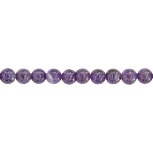 fil améthyste pierres boules 8mm