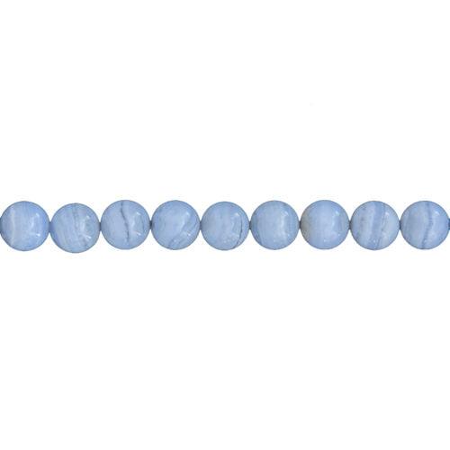 fil calcédoine pierres boules 10mm