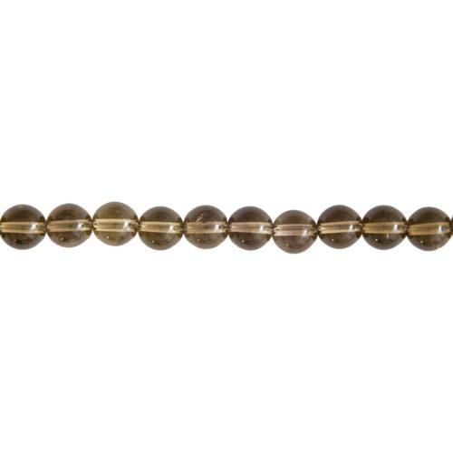 fil quartz fumé pierres boules 8mm