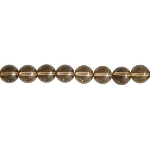 fil quartz fumé pierres boules 12mm