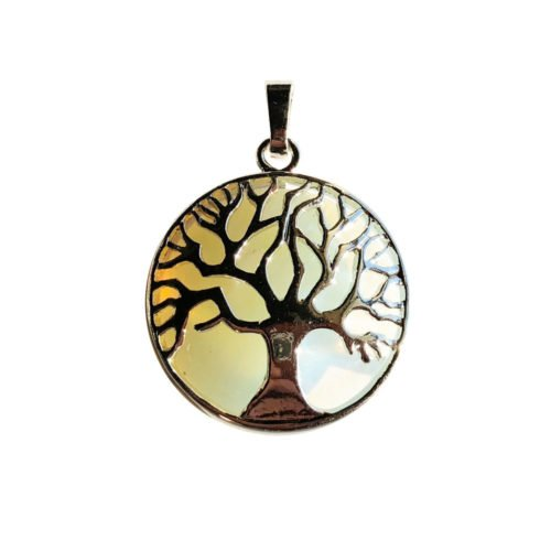 pendentif opale arbre de vie