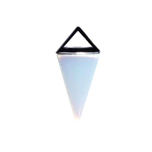 pendentif opale pyramide argent