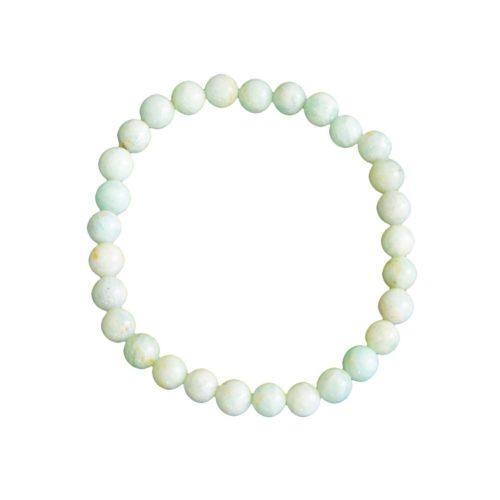 bracelet amazonite pierres boules 6mm