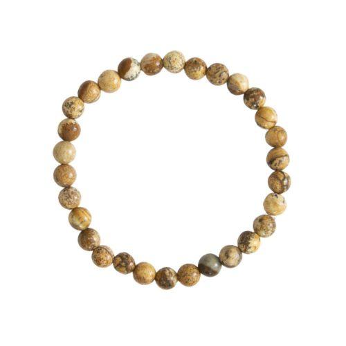 bracelet jaspe paysage pierres boules 6mm
