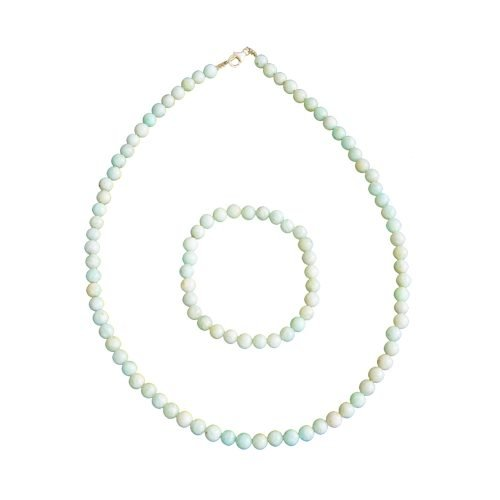 coffret amazonite pierres boules 6mm