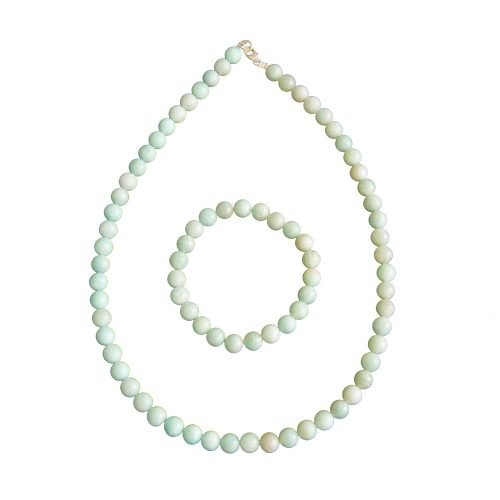 coffret amazonite pierres boules 8mm