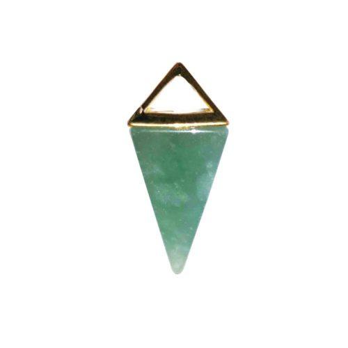 pendentif aventurine pyramide or