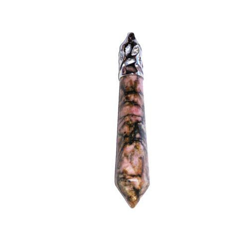 pendentif rhodonite pointe longue