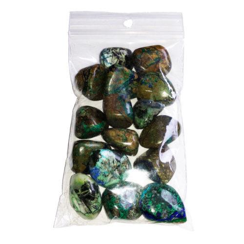 pierres roulées azurite malachite 250grs