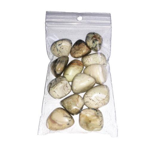 sachet pierres roulées opale blanche 250grs