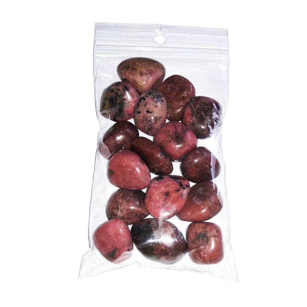 sachet pierres roulées rhodonite 250grs