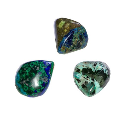 pierre roulée azurite-malachite