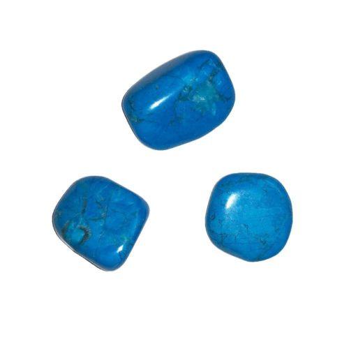 pierre roulée howlite bleue