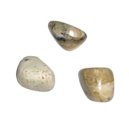 pierre roulée opale blanche