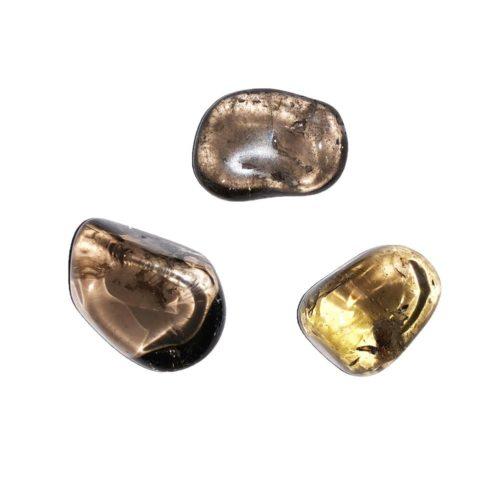 pierre roulée quartz fumé