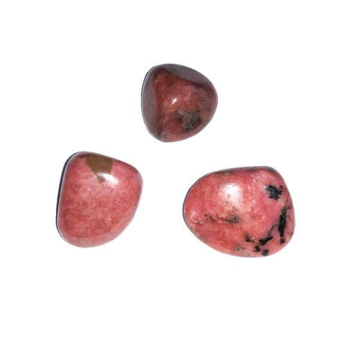 pierre roulée rhodonite