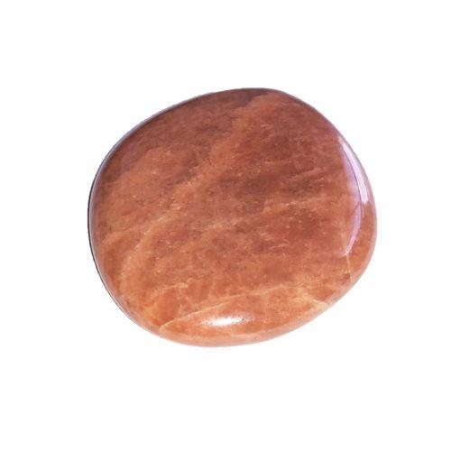 galet pierre de lune orangée