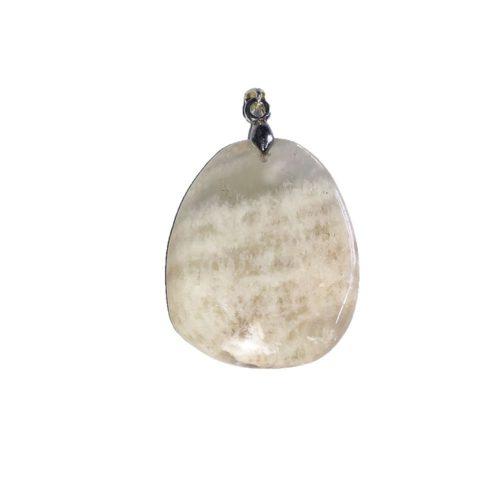 pendentif pierre de lune pierre plate