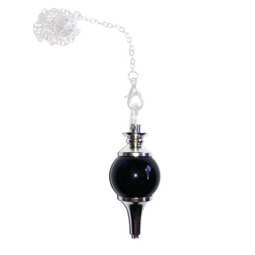 pendule agate noire boule