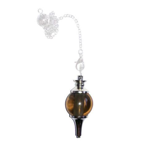 pendule quartz fumé boule