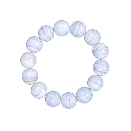 bracelet calcédoine pierres boules 14mm