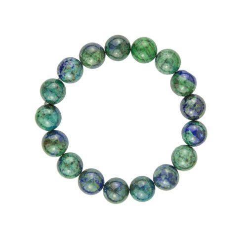 bracelet chrysocolle pierres boules 10mm