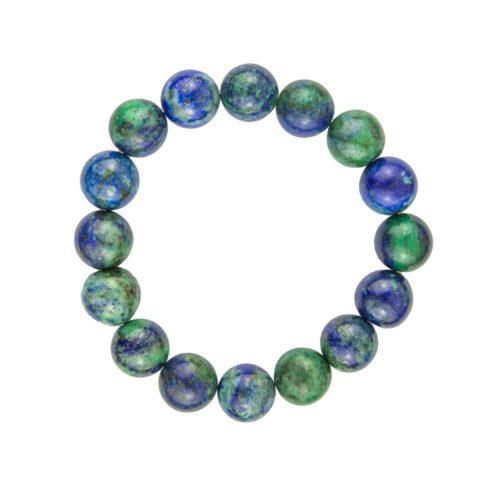 bracelet chrysocolle pierres boules 12mm