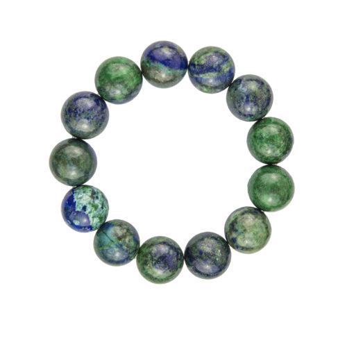 bracelet chrysocolle pierres boules 14mm
