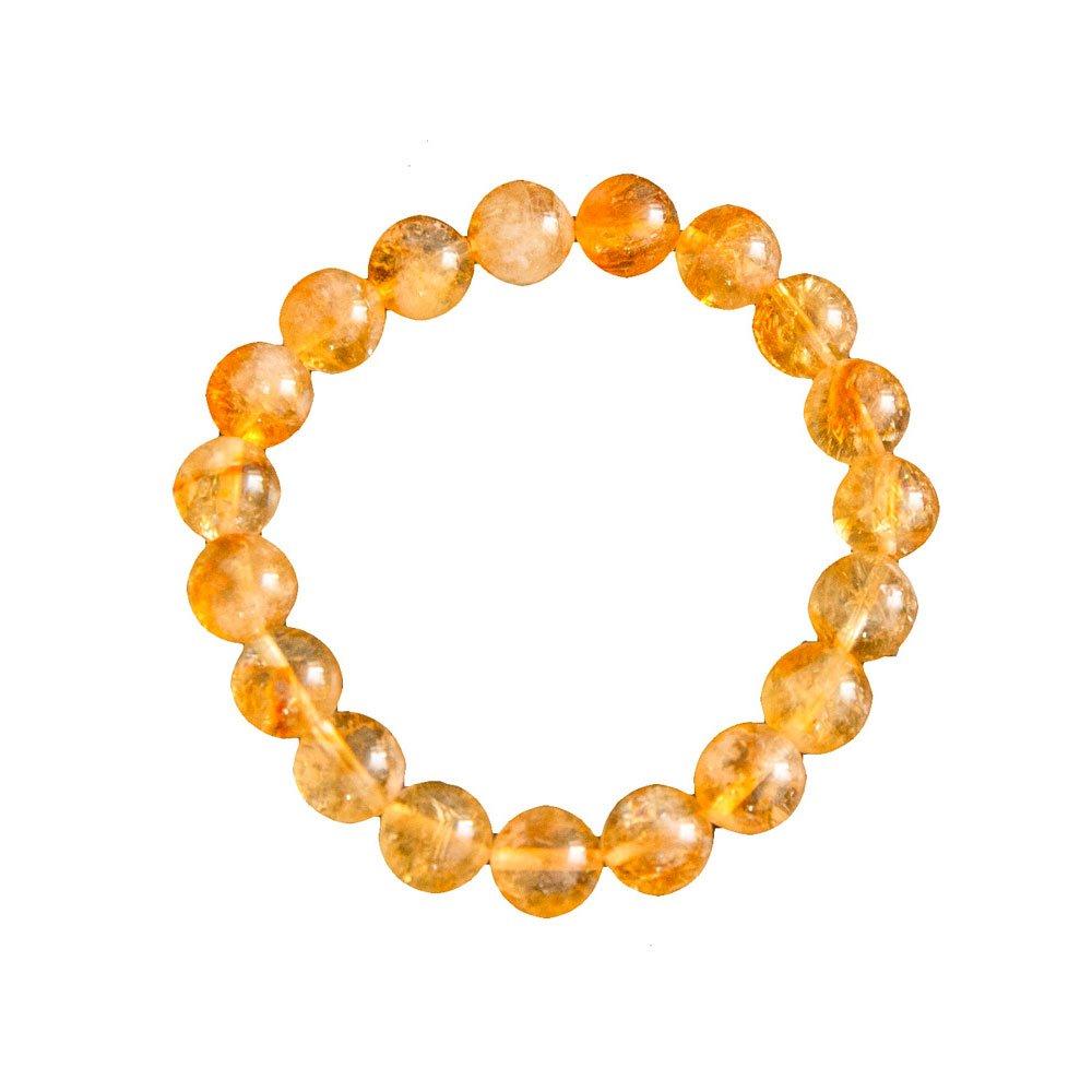 bracelet citrine pierres boules 10mm