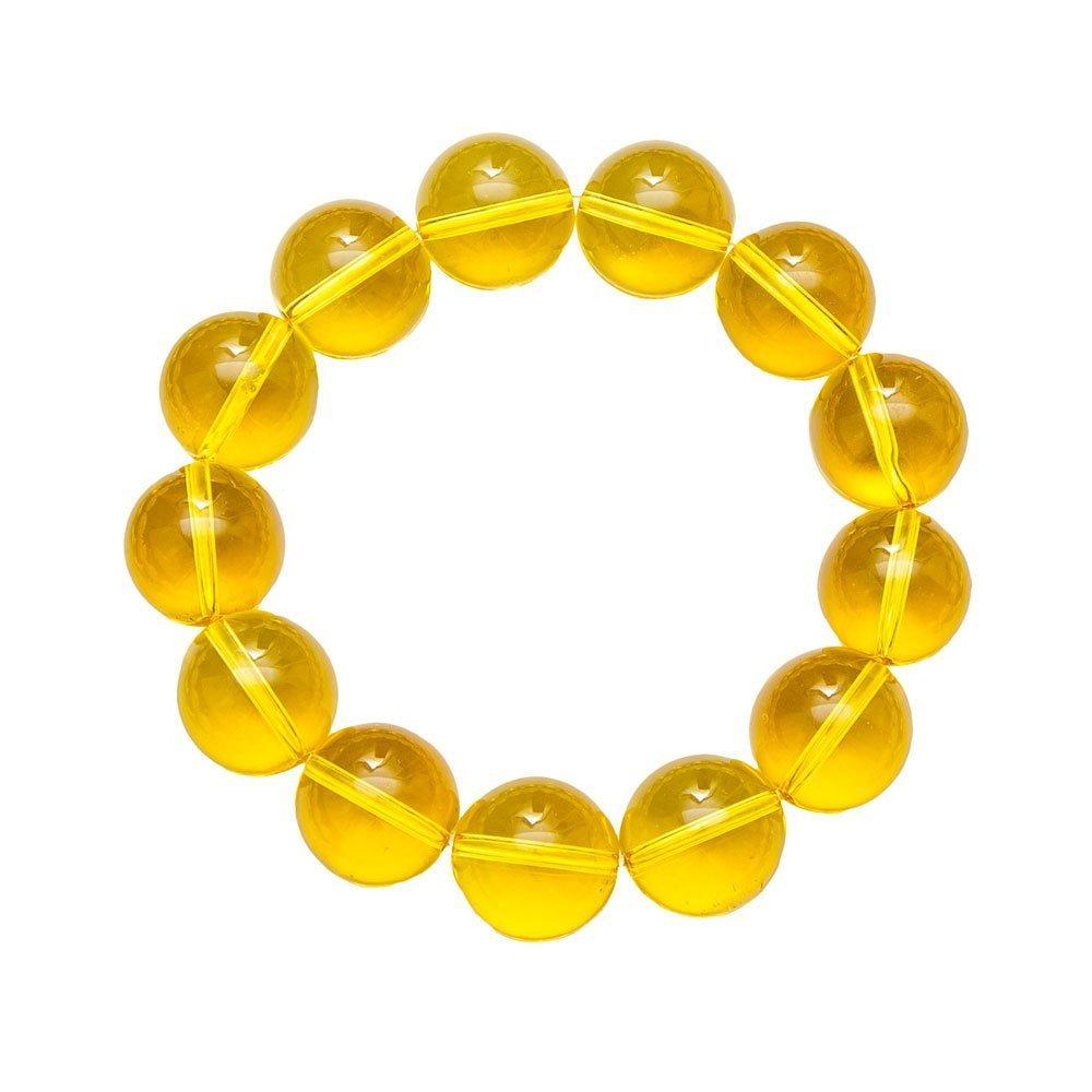 bracelet citrine pierres boules 14mm