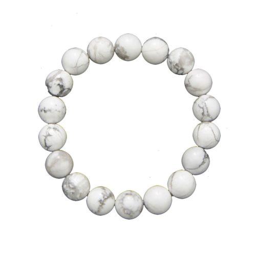 bracelet howlite pierres boules 10mm