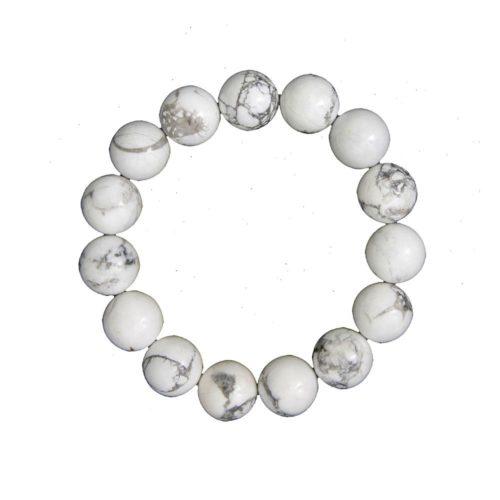 bracelet howlite pierres boules 12mm