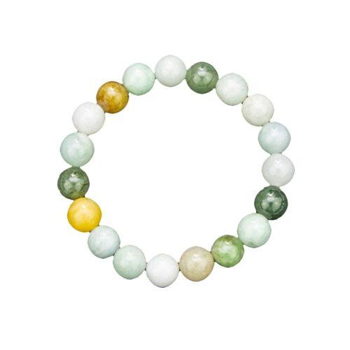 bracelet jade vert pierres boules 10mm