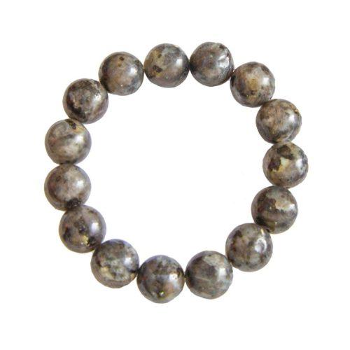 bracelet labradorite avec inclusions pierres boules 12mm