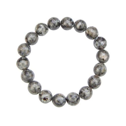 bracelet labradorite avec inclusions pierres boules 10mm