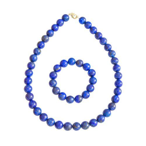 coffret lapis-lazuli pierres boules 12mm