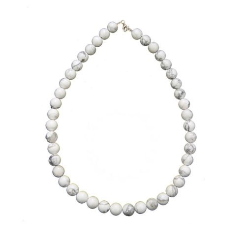 collier howlite pierres boules 10mm