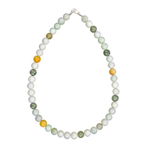 collier jade vert pierres boules 10mm