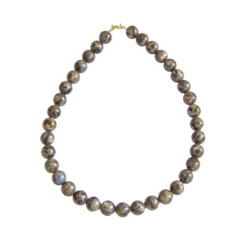 collier labradorite avec inclusions pierres boules 12mm