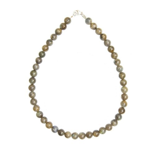 collier labradorite pierres boules 10mm