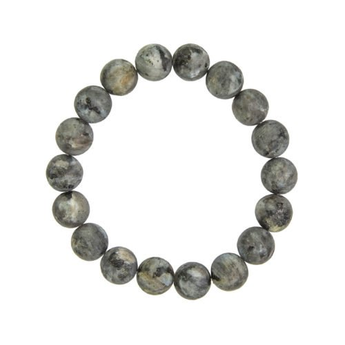 bracelet larvikite pierres boules 10mm