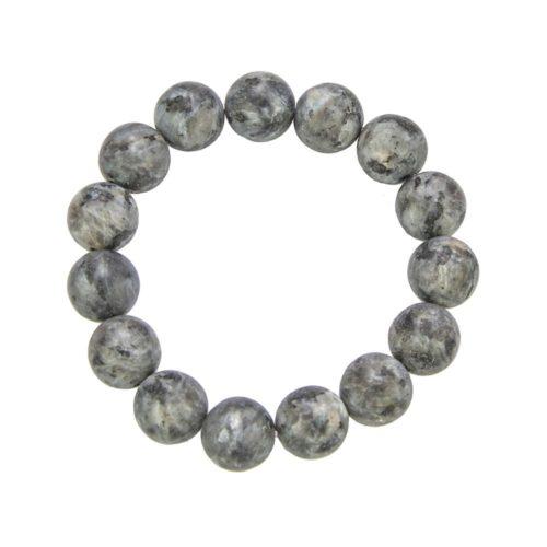 bracelet larvikite pierres boules 12mm
