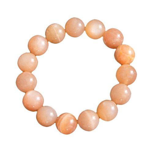 bracelet pierre de soleil pierres boules 12mm