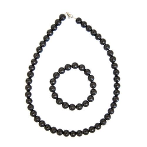 coffret obsidienne noire pierres boules 10mm