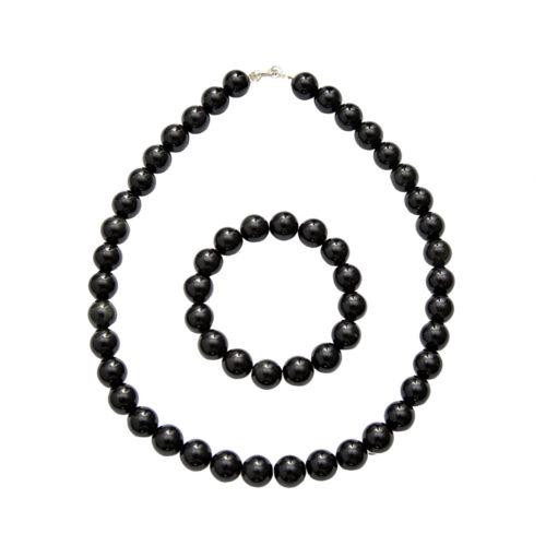 coffret obsidienne noire pierres boules 12mm