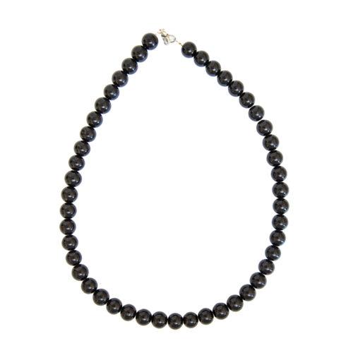 collier obsidienne noire pierres boules 10mm